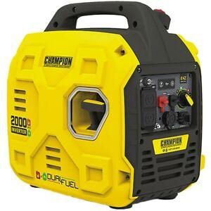 Champion 200960 - 1700 Watt Dual Fuel Inverter Generator w/ Parallel Capabili...
