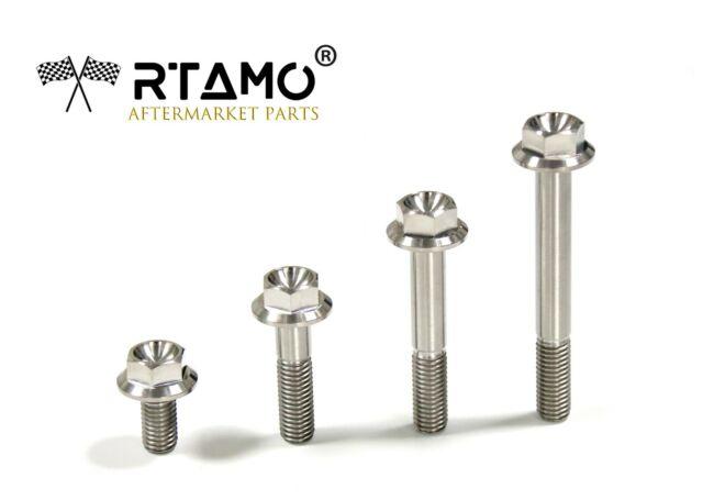 4Pcs M4 M5M6 GR2//TA2 Titanium Allen Grub screws Concave end Hexagon tighten Bolt