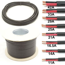 Flat Twin 2 Core Cable 12v 24v Thin Wall Wire -11A 14A 16.5A 21A 25A 29A 33A 42A
