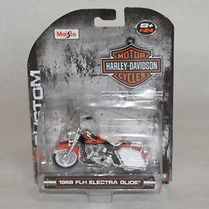 Maisto 1968 FLH Electra Glide Diecast 1:24 Scale Harley Davidson Motorcycle