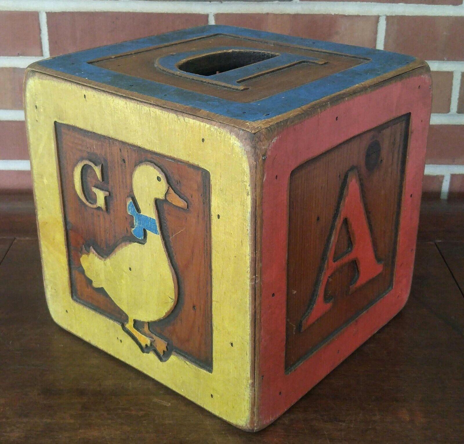 Arte Popular gran pantalla de vivero de juguete de madera bloque de alfabeto almacenamiento Wolf Creek 10 en