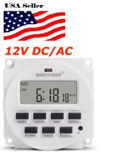 12V DC SINOTIMER DISPLAY TM618H-4 LCD Digital Timer Programmable Time Switch