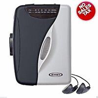 Stereo Cassette Player Am Fm Radio Portable Walkman Tape Music Audio Earbuds