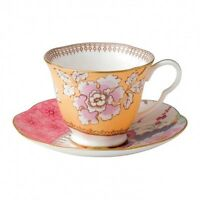 Wedgwood Butterfly Bloom - Teacup and Saucer Yellow