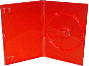 1 red coral single dvd case 14mm original retail cases ebay
