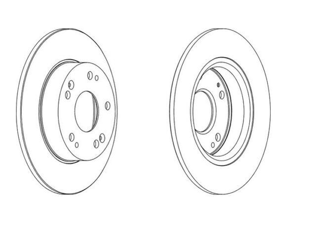 2x Brand New Ferodo Rear Brake Disc - DDF1558C - 12 Month Warranty!