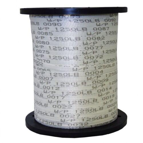 "Polyester Pull Tape//Mule Ruban USA Made 1//2/"" x 1000/' 1250 LB environ 566.99 kg"