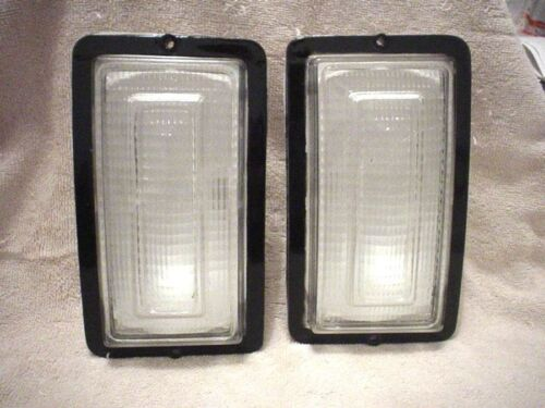 Turn Signal Lenses Pair 1981-1985 Dodge D150 D250 D350 And Ramcharger