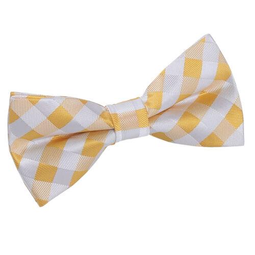 DQT Homme Bow Tie Solid Plain Plaid Carreaux à Motifs Floral Paisley Polka Dot
