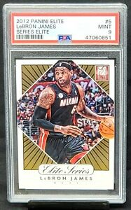 2012-Elite-Series-Lakers-Star-LEBRON-JAMES-Basketball-Card-PSA-9-MINT-Low-Pop-9