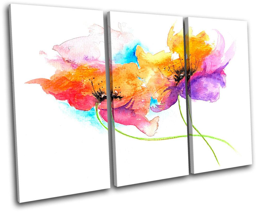 Painting Style Floral TREBLE TOILE murale ART Photo Print Print Print 91625a