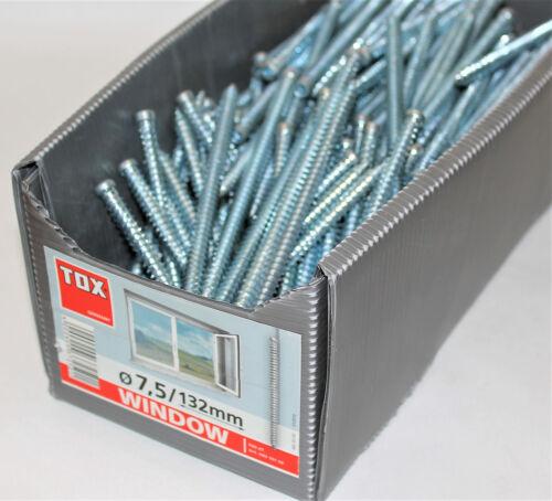 6 Stück TOX Metall Rahmenschrauben TRS-ZT Window Pro 7,5x132 mm Neu