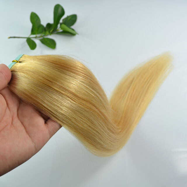 """14""""16""""18""""20""""22""""Long Remy AAA Tape In Straight & Wavy 100% Human Hair Extensions"""