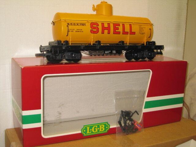 LGB   4080 Y 04 Shell Oil Tank Car,Factory New , G Scale.