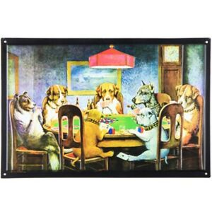 Dogs-Playing-Poker-Metal-Sign