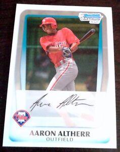 AARON-ALTHERR-2011-Bowman-Chrome-Rookie-Card-RC-Phillies-HOT-351-BA-7-HRs-74AB