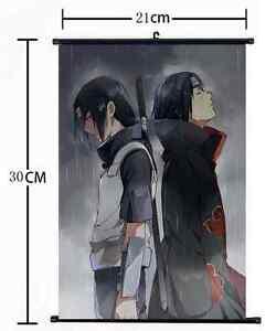Anime Naruto Uchiha Itachi Clan home decor Wall Scroll Poster cosplay 2720