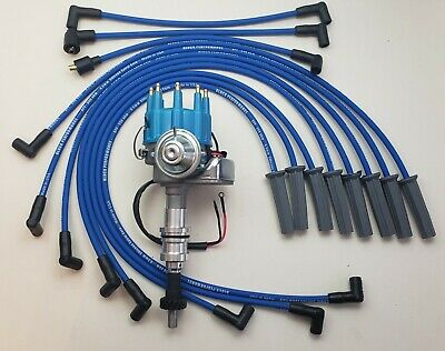 BIG BLOCK FORD HEI Distributor 351C,351M,400,429,460 /& BLACK Spark Plug wires US