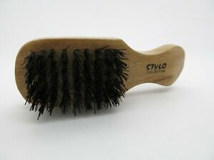 Beard-Hair-Brush-Halal-Vegan-Animal-Free-Stiff-Bristle-Small-Club-Brush-5-Row