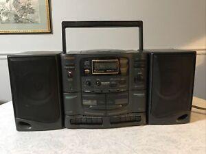 Koss HG920 CD/Dual Cassette/AM-FM Tuner Boombox (Please Read Description)