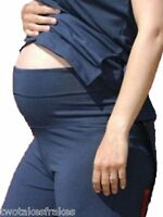 Maternity Pregnancy Wear Pregnant Casual Trousers Yoga Over Bump Pants S M L New