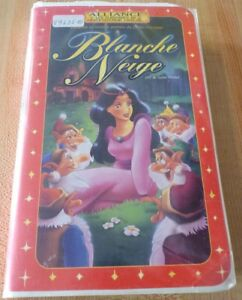 VHS-French-Movie-Blanche-Neige-Snow-White-Alliance-Films