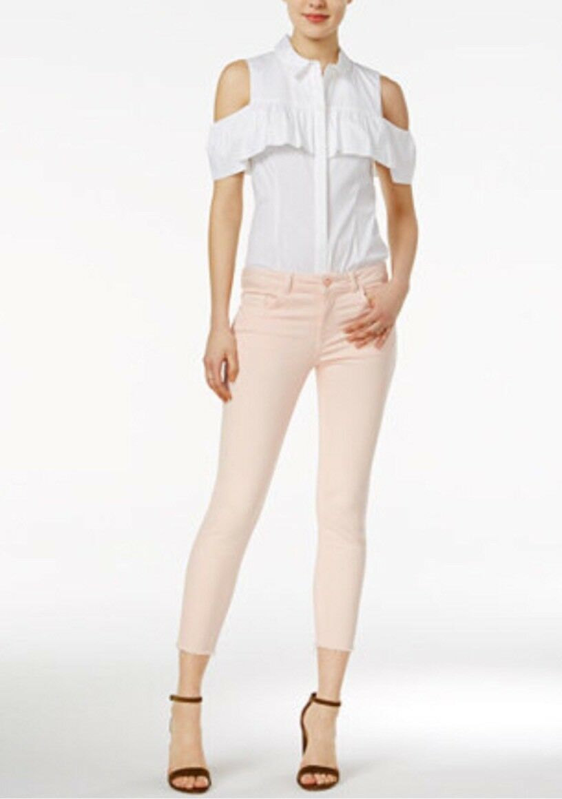 NEW DL1961 Florence Instasculpt Cropped Skinny Leg Jeans Size 25 Hibiscus