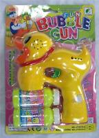 Light Up Duck Bubble Gun With Sound Endless Toy Bottle Bubbles Maker Machine