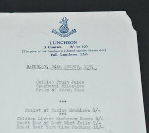 1957 Vintage Restaurant Paper Menu Randolph Hotel Oxford Luncheon Card Uk Ebay
