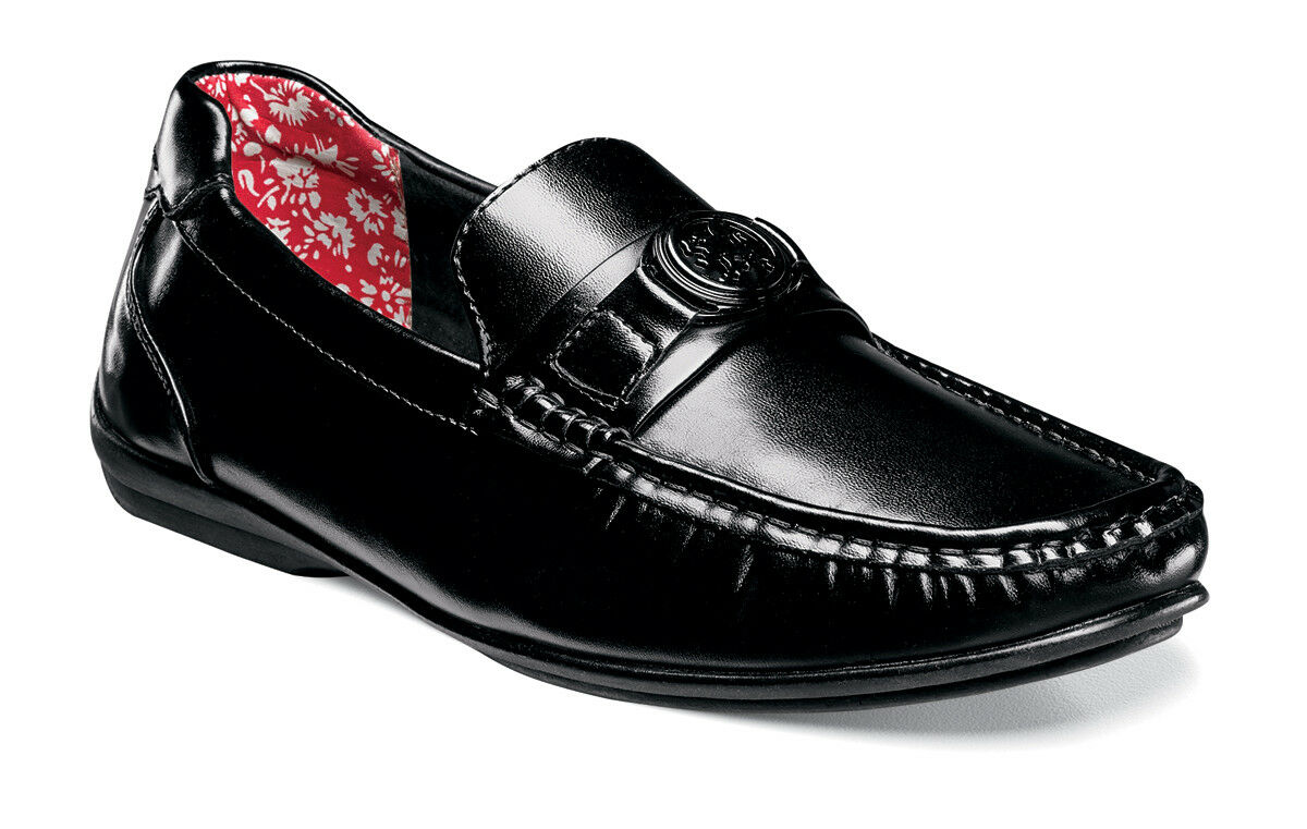 sconto di vendita Stacy Adams Cyrus nero Moc Toe Toe Toe Bit Leather Lined Summer Loafer Dimensione 11  vendita economica