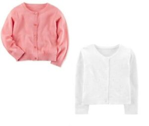 NWT-Carters-Toddler-Girl-Dressy-Pink-or-White-Cardigan-Sweater-2T
