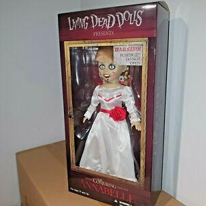 "LIVING DEAD DOLLS THE CONJURING ANNABELLE 10"" inch DOLL FIGURE MEZCO TOYZ 25cm"