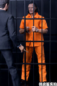 "1//6 Orange Prison Uniform Suit Set Clothes Fit 12/"" Male Figure shirt + blouse"
