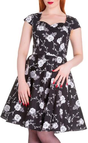 Kleid Vintage Natalia Rockabilly Circle Bunny Hell Sweetheart Roses Grey qZSnwv0
