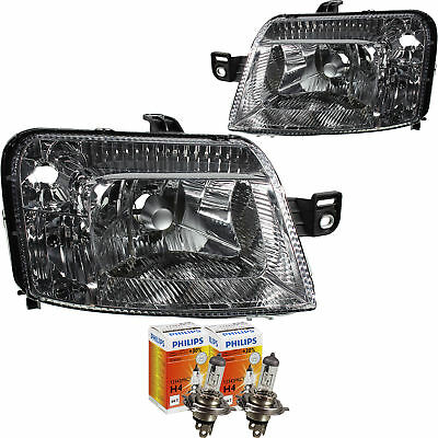 Scheinwerfer Set Fiat Panda Bj Motor H4 inkl 09//03-/>/> inkl PHILIPS Lampen FO4