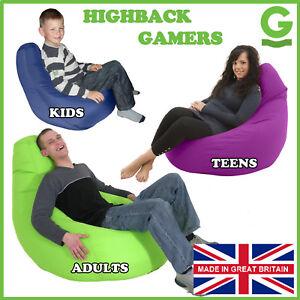 Gamer-Chair-Gaming-Seat-Game-Bean-Bag-Lounger-Beanbag-3-Sizes-UK-Made-by-Gilda