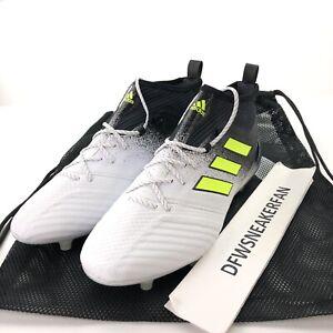 detailed look a13ad 0811b Adidas Ace 17.2 FG Men's 11 Primeknit White/Yellow/Black ...