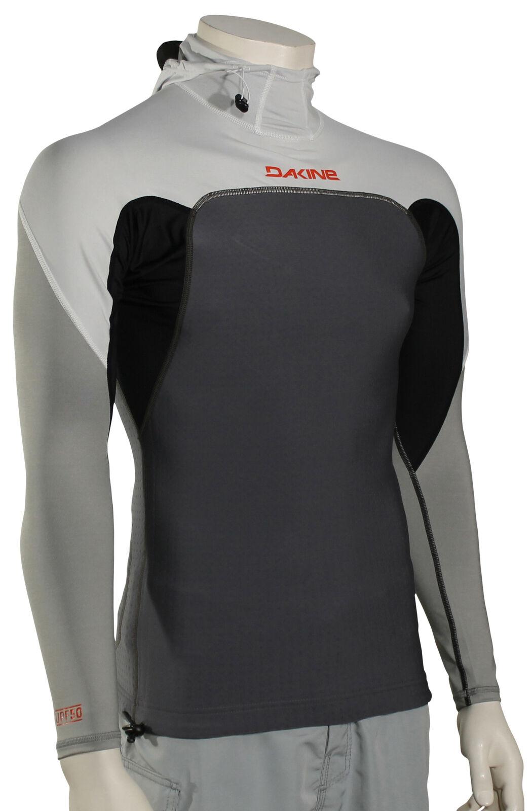 DaKine Storm Snug Fit Hooded LS Rash Guard - Carbon - New