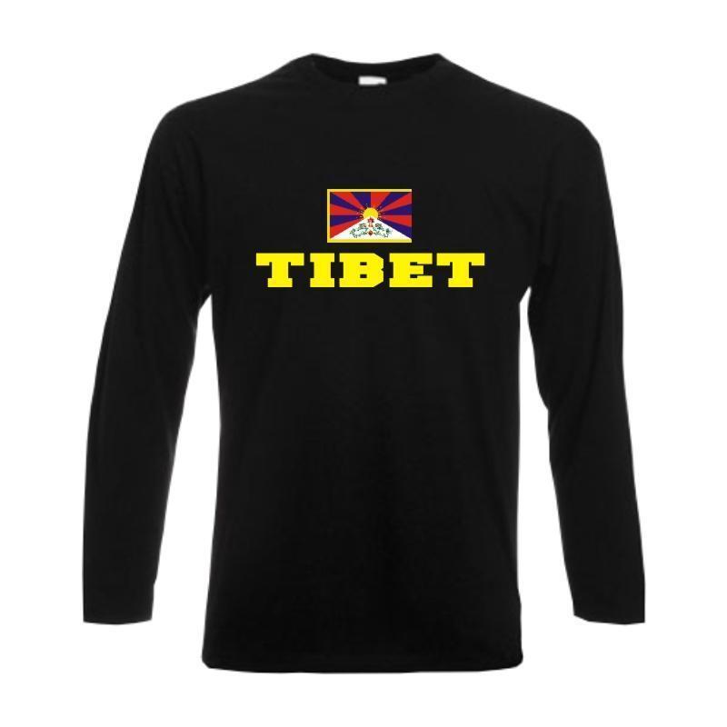 Longsleeve TIBET, Flagshirt, Fanshirt langarm T-Shirt S-6XL (WMS02-63b)