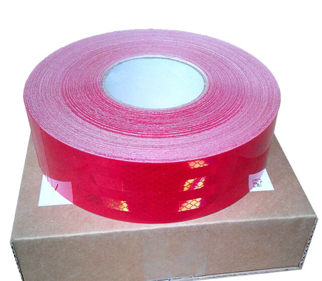 REFLECTIVE CONSPICUITY TAPE SAFETY Red 3m=10' 5cm CCC=DOT-C2