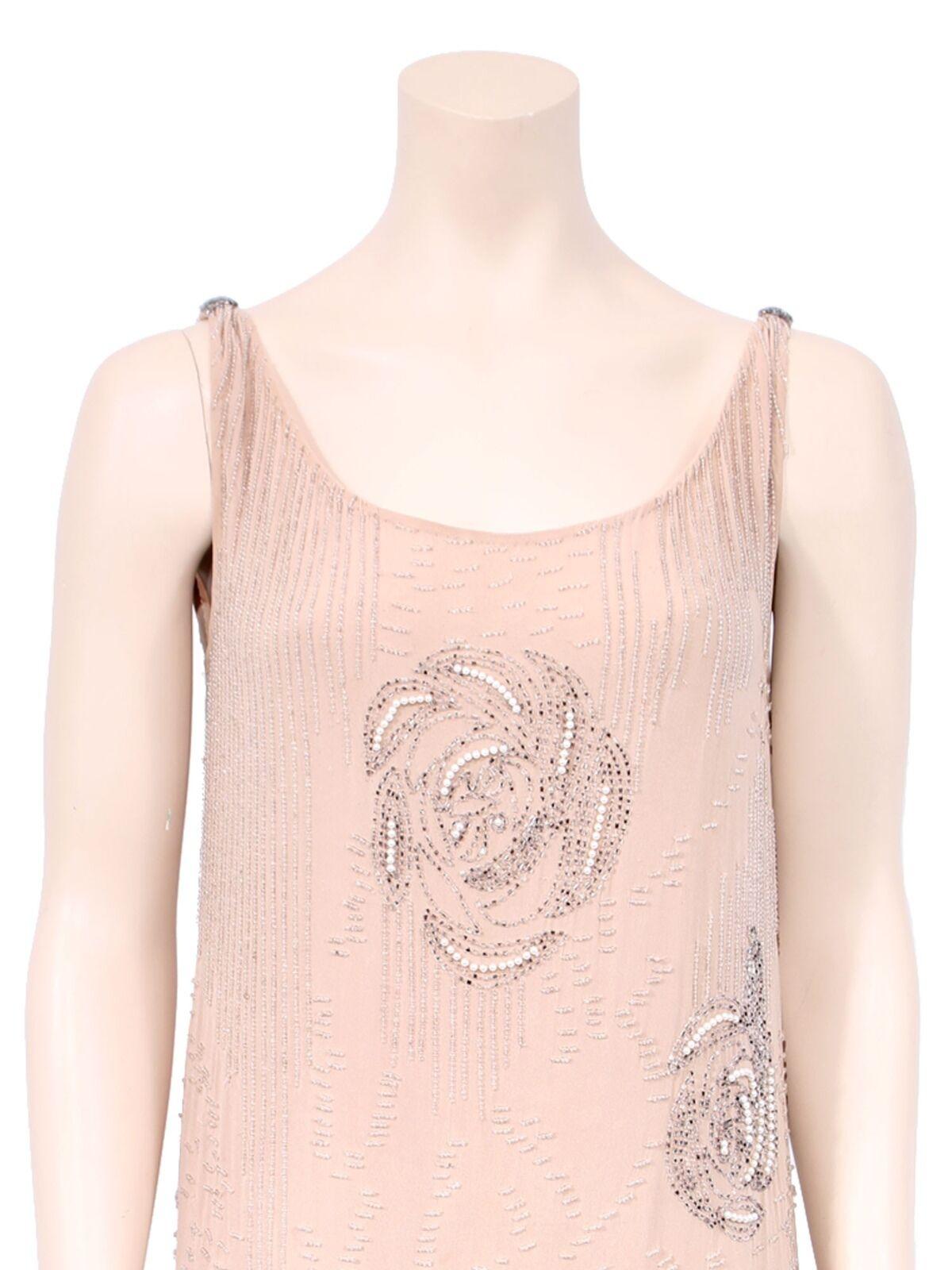 HAUTE HAUTE HAUTE HIPPIE Beaded Silk Dress f45905
