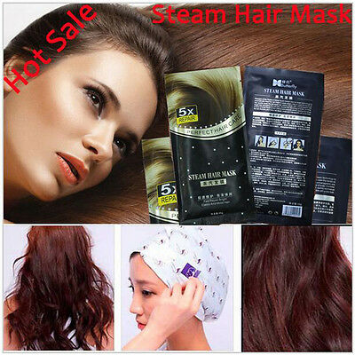 Home Automatic Heating Steam Hair Mask for Hair Coarse Thermal Keratin Argan Oil
