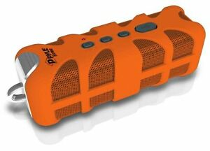 New-PWPBTA70OR-Splash-Proof-Bluetooth-Marine-Grade-Wireles-Speaker-AUX-In-Orange