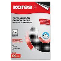 Industrias Kores Carbon Paper Typewriter 8-1/2x11 100 Sheets/bx Black