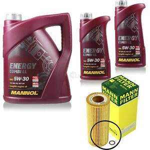 Motor-aceite-7l-MANNOL-5w-30-combi-LL-Mann-Filter-paquete-de-filtro-para-bmw-x3-e83-30d