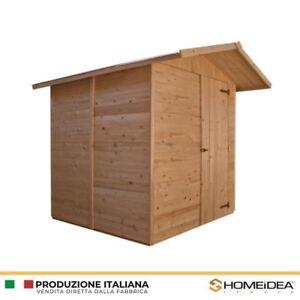 Dettagli Su Casetta In Legno A Pannelli Mis 222 X 222 Cm Home Idea Italia