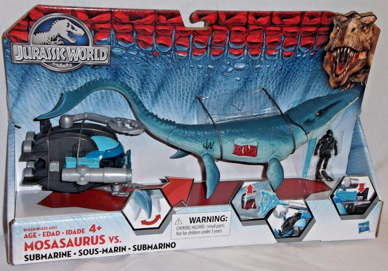 MISP Hasbro MOSASAURUS SUBMARINE Dinosaur JURASSIC PARK WORLD Sea Water Reptile