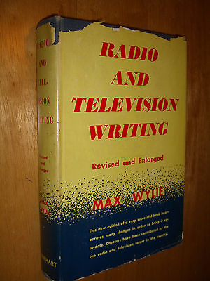Radio And Television TV Writing by Max Wylie Vintage HCDJ 1950