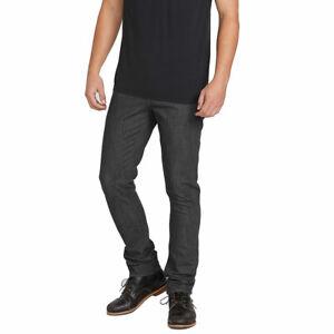 Volcom-Men-039-s-2x4-Skinny-Fit-Denim-Jeans-Dark-Gray-Clothing-Apparel
