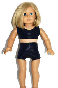 """Sparkle Navy Dance//Cheer Shorts Doll Clothes for 18/"""" American Girl Dolls"""